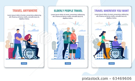 Travel for Disabled, Senior People Mobile Page Set 63469606