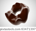 Chocolate cookies isolated on white background. 63471397