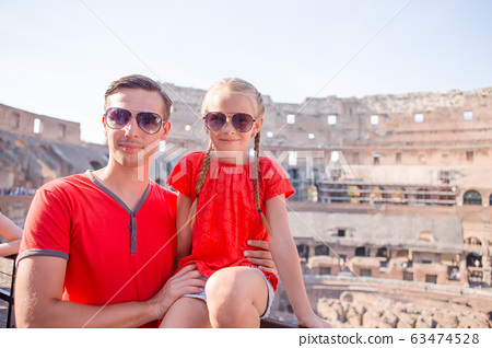 Family portrait at famous places in Europe 63474528