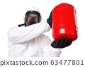 Medic in hazardous materials protective suit 63477801