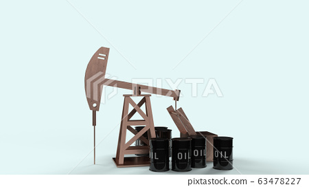 The oil drilling machine 3d rendering  for  petroleum content. 63478227