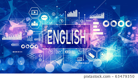 English concept with technology light background 63479350