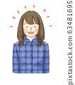 여성 표정 (웃는 얼굴) 63481695