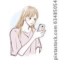 智能手机女人失望 63485054