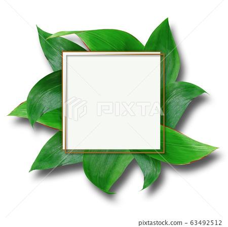 floral greenery card design 63492512