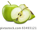 green apple isolated on white clipping path 63493121