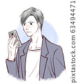 智能手机男性愤怒 63494471