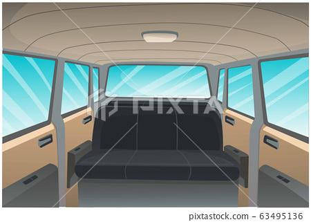 Cartoon image of car interior background. 63495136