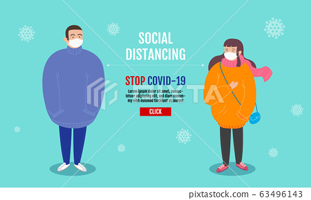 Social Distancing concept , People keeping 63496143