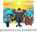 quarantine remote work at home. dream of vacation and travel 63496729