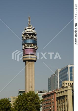 Entel Tower in the Libertador Bernardo O'Higgins Avenue. 63499456