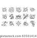 Coronavirus icon set 63501414