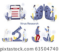 Virus research medical care. Mobile app developing 63504740