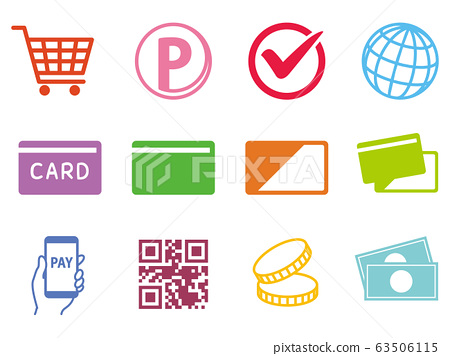 Cashless payment icon 63506115