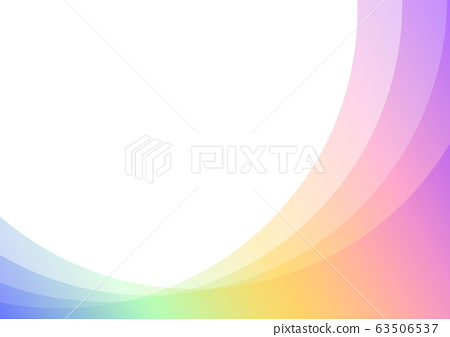 pastel rainbow curve layer abstract background 63506537