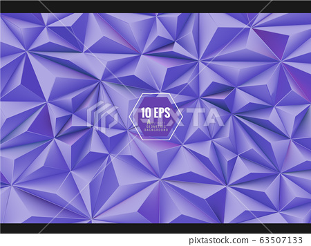 Purple abstract low poly background 63507133