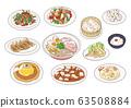Chinese food illustration set 63508884