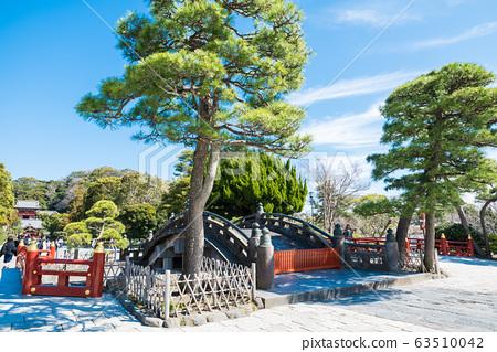 쓰루 오카 하치만 구 홍예 다리와 경내 풍경 (가나가와 현 가마쿠라시) 2020 년 3 월 현재 63510042