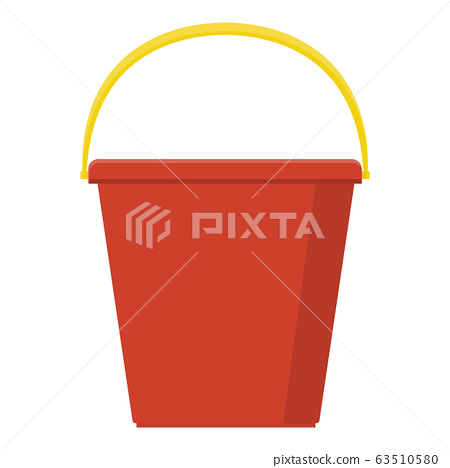 Plastic red bucket empty or with water  63510580