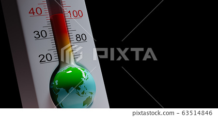 Earth Thermometer, Global Pandemic Concept 63514846