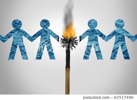 Social Distancing Concept 63517496
