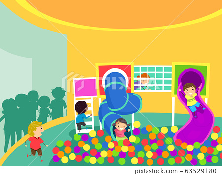 Stickman Kids Area Indoor Illustration 63529180