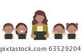 Kids Black Teacher Tablet Illustration 63529204