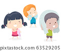 Kids Adjective Dry Illustration 63529205