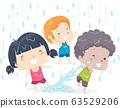 Kids Adjective Wet Illustration 63529206