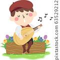 Kid Boy Minstrel Illustration 63529212