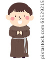 Kid Boy Medieval Monk Illustration 63529215
