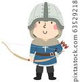 Kid Boy Medieval Archer Illustration 63529218
