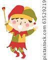 Kid Boy Medieval Jester Illustration 63529219