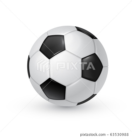 Soccer ball realistic vector illustration isolated on white background. 63530988