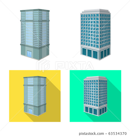 Isolated object of construction and building logo. Collection of construction and estate vector icon for stock. 63534370