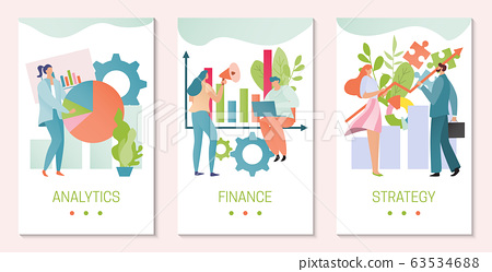 Business strategy analytics, people planning management and researching data, vector illustration 63534688