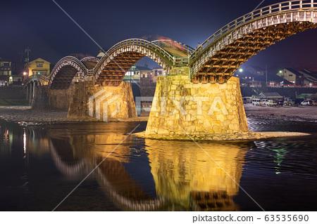 Iwakuni, Hiroshima, Japan at Kintaikyo Bridge 63535690