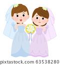 Wedding, reception, female, same-sex marriage, illustration 63538280