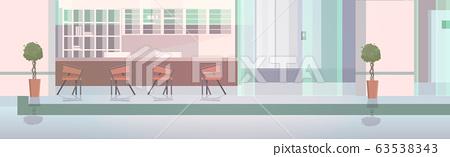 hospital reception with furniture empty nurses station no people clinic hall interior horizontal 63538343