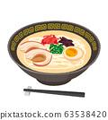 Illustration of tonkotsu ramen 63538420