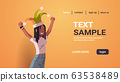 first april fool day girl wearing funny jester hat holiday celebration concept horizontal portrait copy space 63538489