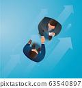 business partners handshaking vector illustration EPS10 63540897
