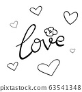 Love is word of hand lettering graphic design 63541348