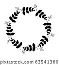 flower element is the line of hand drawing graphic 63541360