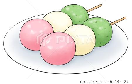 3 colors dumpling, 1 line color, plate 63542327