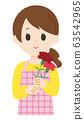 康乃馨女圍裙 63542965