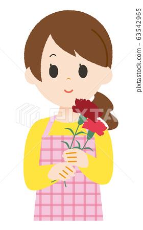 Female Carnation Apron 63542965
