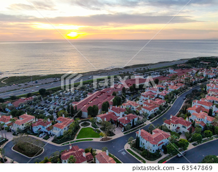 Crystal Cove neighborhood community in the Newport coast before sunset 63547869