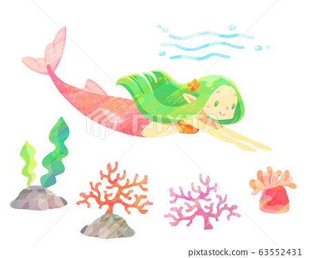 美人魚03(紋理) 63552431