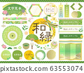Japanese style frame set / green, matcha, early summer, spring 63553074